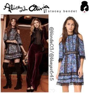 """Alice + Olivia """"Gatz"""" cold shoulder dress 0"""